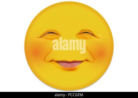 Ein Mann In Seiner Mitte 40 Lacht Ein Wenig Schüchtern Die