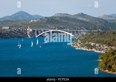 Die meisten sibenski, Brücke, Sibenik, Dalmatien, Kroatien - Stockfoto
