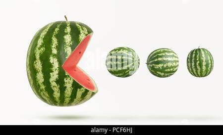 Humor, bizarre, Wassermelone - Stockfoto