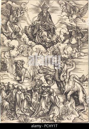 Albrecht Dürer - Das Tier mit zwei Hörnern wie ein Lamm (1943.3.3565). - Stockfoto