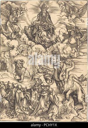 Albrecht Dürer - Das Tier mit zwei Hörnern wie ein Lamm (1941.1.26). - Stockfoto