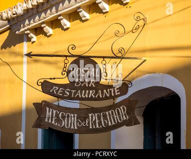 Hotel Hostal Bar Restaurante Meson Del Regidor, Trinidad, Kuba, Sancti Spíritus, Kuba - Stockfoto
