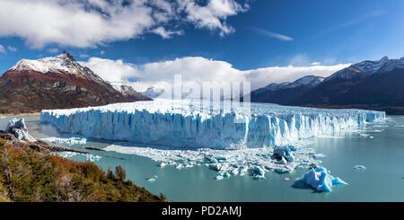 Panorama der Gletscher Perito Moreno, Patagonien, Argentinien - Stockfoto