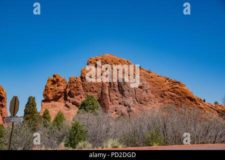 Kamele Felsen der berühmten Garten der Götter bei Manitou Springs, Colorado - Stockfoto