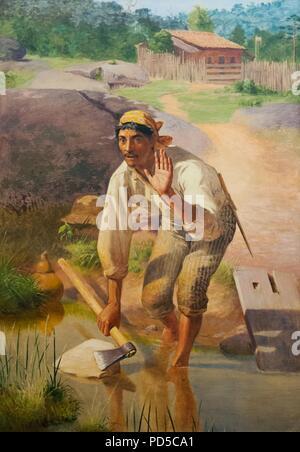 Amolação interrompida von Jose Ferraz de Almeida Indiana Junior 1894. - Stockfoto