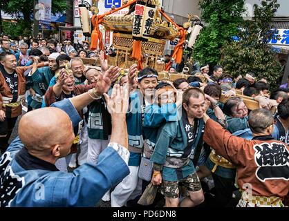 Japan, Insel Honshu, Kanto, die Kanda Matsuri. - Stockfoto