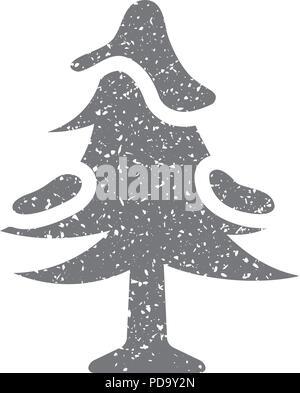 Grunge icon-Baum - Stockfoto