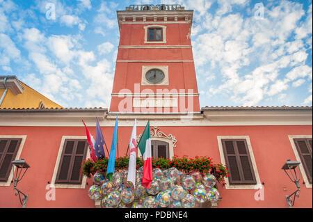 Das städtische Rathaus in der Altstadt von Novigrad, Istrien, Kroatien - Stockfoto