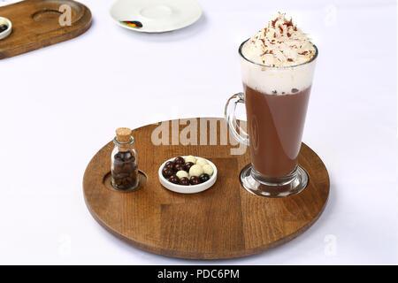 Wiener heiße Schokolade trinken - Stockfoto