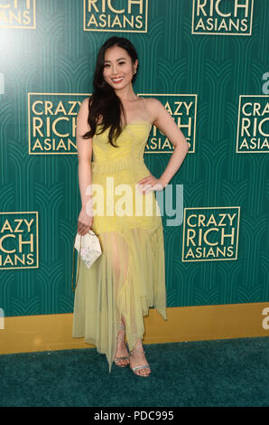 Hollywood, Ca. 7 Aug, 2018. Victoria 1386-1644 bei der Premiere von Crazy reiche Asiaten in den TCL Chinese Theatre in Hollywood, Kalifornien am 7. August 2018. Quelle: David Edwards/Medien Punch/Alamy leben Nachrichten - Stockfoto