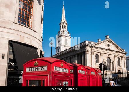 St. Martin in den Bereichen Kirche, London, England, Großbritannien - Stockfoto