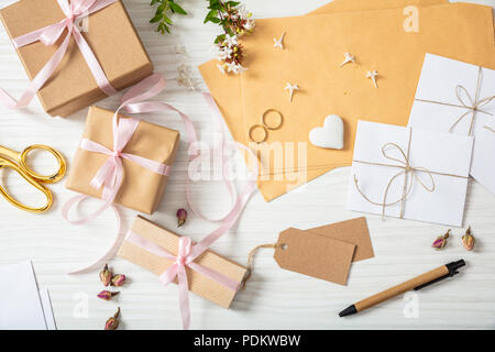 Hochzeit Vorbereitung Flach Und Ansicht Von Oben Schwarz Notebook