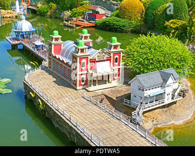 Bekonscot Model Village, Beaconsfield, Buckinghamshire, Großbritannien - Stockfoto