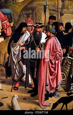Beweinung Christi 1484 von Geertgen Tot Sint Jans (1460/65 -1490 Leiden - Haarlem) der Niederlande, Niederländisch. (Hochaltar von St. Johannes Kirche in Haarlem) - Stockfoto