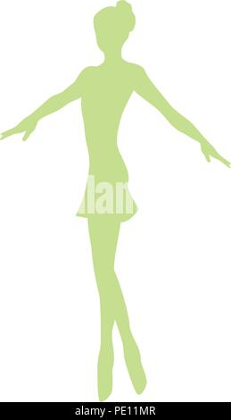 Schöne Balletttänzerin, Ballerina - Stockfoto