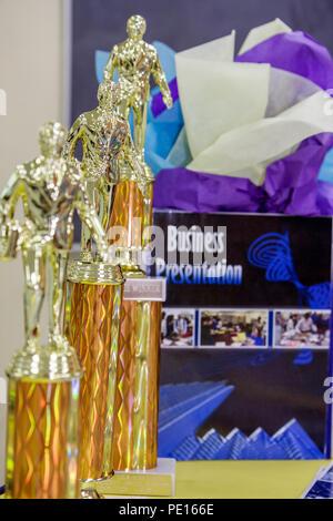 Florida, FL, Süd, Miami, Liberty City, William Turner Technical Arts High School, Jahresgeschäft, Plan Wettbewerb, Präsentation, Studenten Stockfoto