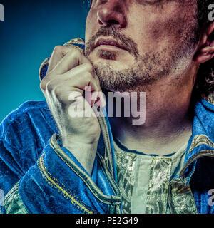 Blauer Prinz, Herrlichkeit Konzept, lustige Fantasy Bild - Stockfoto