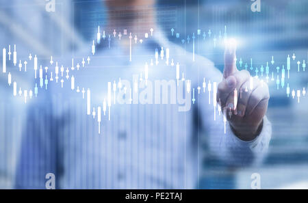 Finanzcharts, Business Analytics Konzept - Stockfoto