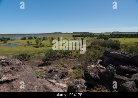 Die viewsfrom Nourlangie Rock, Kakadu National Park, Northern Territories, Australien - Stockfoto