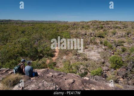 Kakadu National Park, Northern Territories, Australien - Juni 2007: Der Blick von Nourlangie Rock, Kakadu National Park, Northern Territories, Australi - Stockfoto