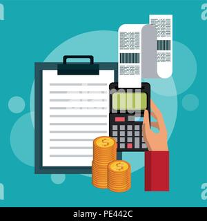 Zählen von Geld und Einsparungen - Stockfoto
