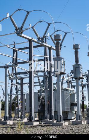 Elektrische Unterstation in Great Falls, Montana, USA - Stockfoto