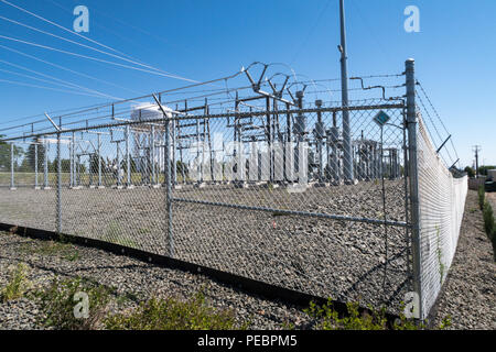 Elektrische Unterstation in Great Falls, Montana, USA - Stockfoto