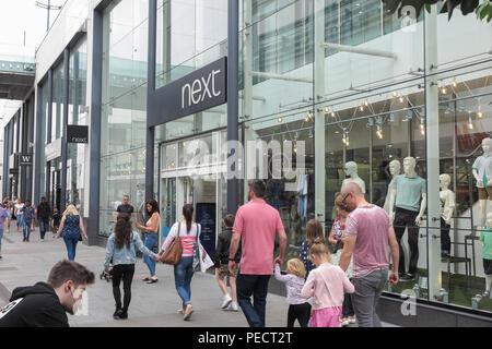Die George Street, Altrincham Stadtzentrum, Trafford, Greater Manchester, England - Stockfoto