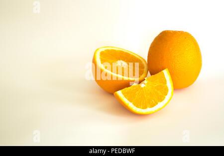 Orang, Orangen. natürliche Säfte und gesunde Lebensmittel - Stockfoto