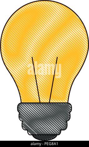 Das Halogen-Glühlampe-Symbol. Lampe und Lampe, Glühbirne Symbol. UI ...