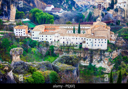 Schöne alte Kathedrale im Parador deCuenca, Spanien. - Stockfoto