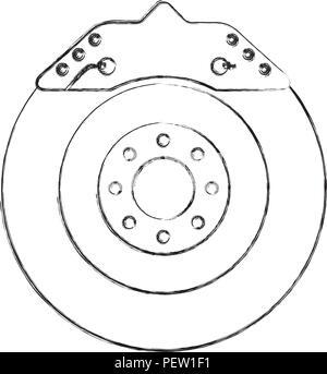 Bremsscheibe Motor teil - Stockfoto