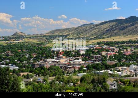 Innenstadt von Golden, Colorado in den Rocky Mountains an einem sonnigen Tag - Stockfoto