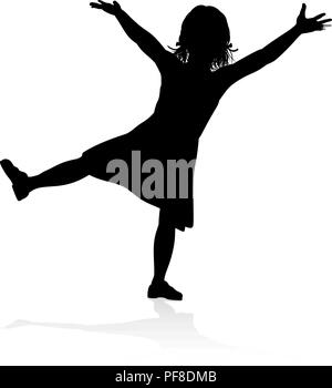 Kind Silhouette - Stockfoto