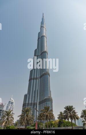 Der Burj Khalifa in Dubai, V.A.E. - Stockfoto