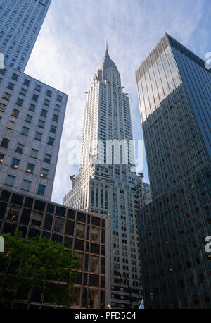 Blick auf das Chrysler Building in New York City - Stockfoto