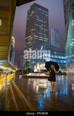 Wolkenkratzer im Central District, Hong Kong, China