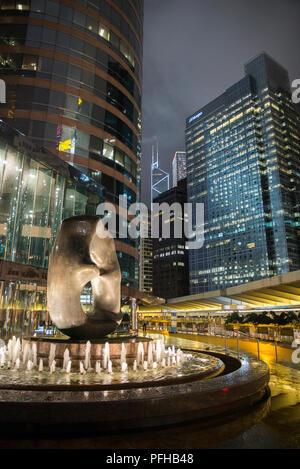 Wolkenkratzer im Central District, Hong Kong, China - Stockfoto