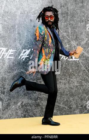London, Großbritannien. 21 Aug, 2018. Everaldo Creary bei der BRITISCHEN Premiere von YARDIE am Dienstag, 21. August 2018 im BFI Southbank, London statt. Im Bild: everaldo Creary. Credit: Julie Edwards/Alamy leben Nachrichten - Stockfoto