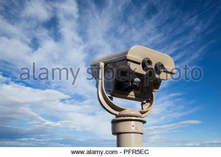 Outdoor touristische Besucher Teleskop an trockenen Falls State Park, Washington, USA - Stockfoto