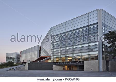 Museo de la Evolucion Humana (Museum der menschlichen Evolution) - modernes Gebäude außen in Burgos Spanien Europa. - Stockfoto