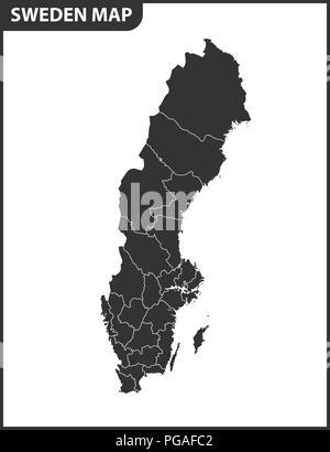 Karte Schweden Regionen.Gotland Karte Von Schweden Mit Der Schwedischen Flagge