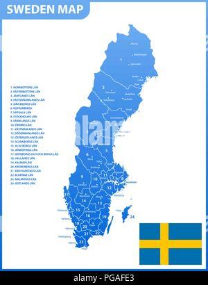 Schweden Karte Regionen.Detaillierte Karte Von Schweden Und Hauptstadt Stockholm Mit