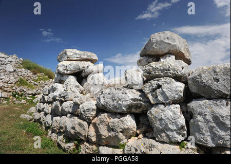 Torre d'en Galmés - eine Talyotic Website in Menorca, Spanien - Stockfoto