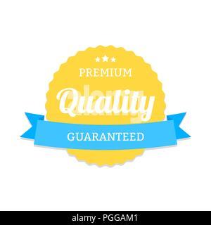 Premium Qualität Abzeichen im modernen Stil. Emblem für Waren und Produkt Marketing - Stockfoto