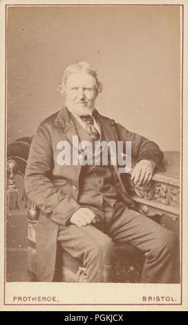 Bristol CDV Carte De Visite Eines Bartigen Viktorianischer Mann