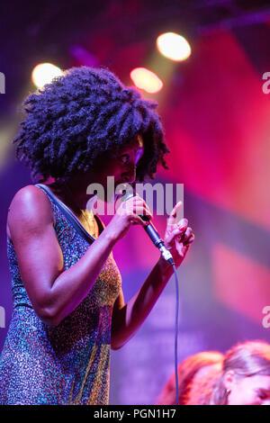 """Kanada, Quebec, Montreal, Montreal Jazz Festival, die brasilianische Sängerin """"aCruz' - Stockfoto"""