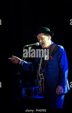 Barcelona, Spanien. 25 August, 2018. Konzert von Juan Perro in Teatre Kolosseum. Festival Mas i Mas. Fotograf: © Aitor Rodero. - Stockfoto