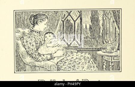 """Bild von Seite 72 der """"Neue Bilder in alten Frames, ein Buch der Vers für Mädchen und Jungen im alten französischen Formen, etc.' geschrieben. - Stockfoto"""