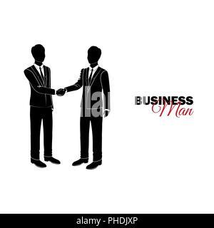 Unternehmer, Manager. Ein Mann im Anzug. Unternehmer Hände schütteln - Stockfoto